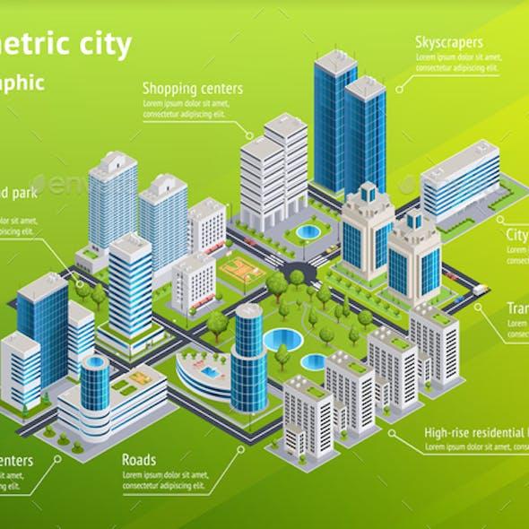 City Infrastructure Isometric Infographics