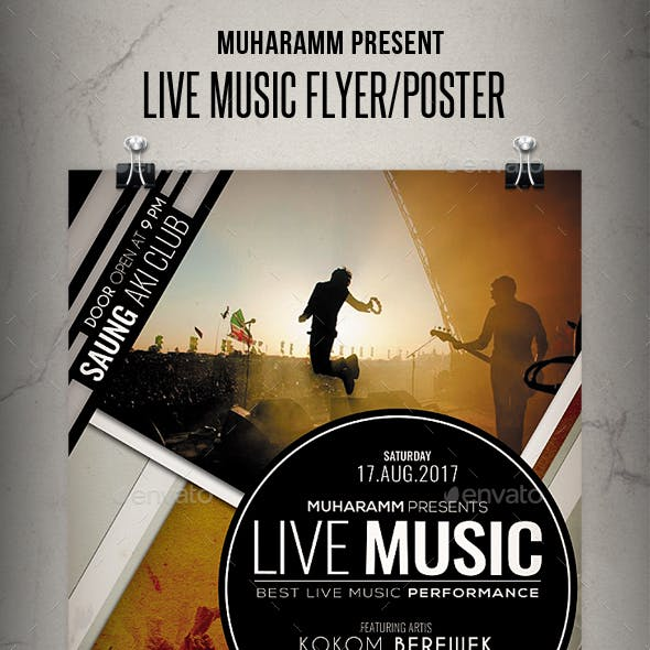 Live Music Flyer / Poster