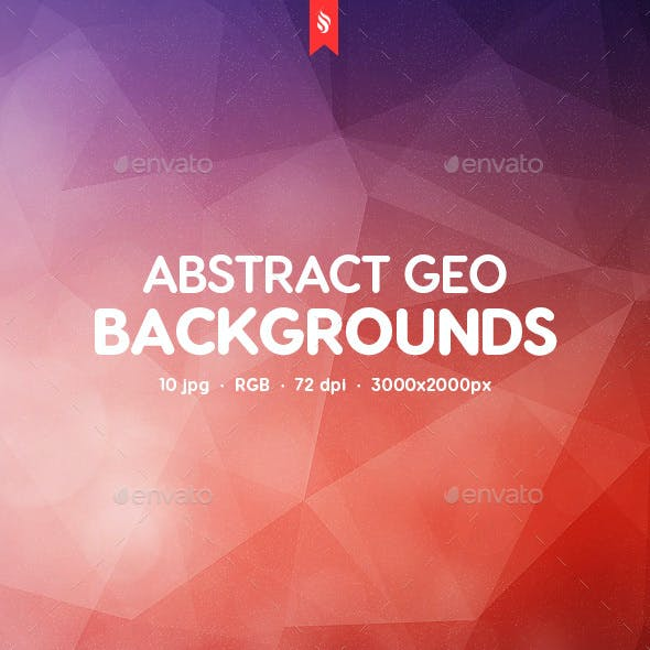 10 Abstract Geo Backgrounds