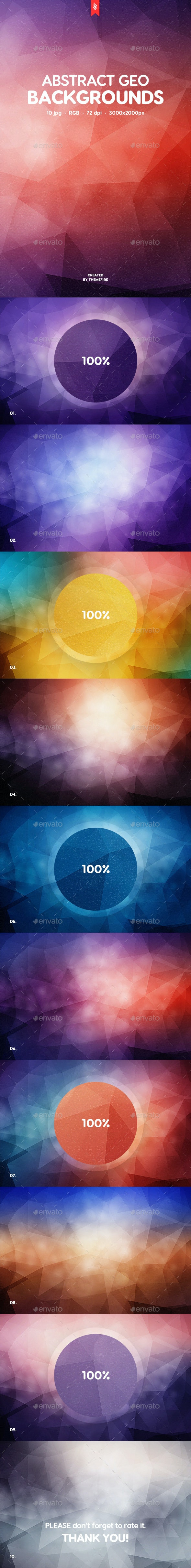 10 Abstract Geo Backgrounds - Abstract Backgrounds