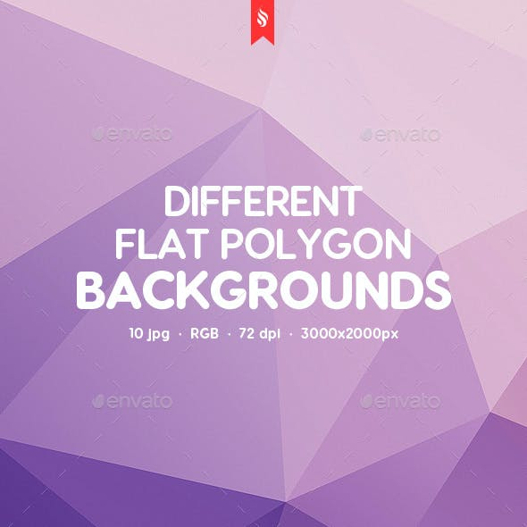 10 Different Flat Poly Backgrounds