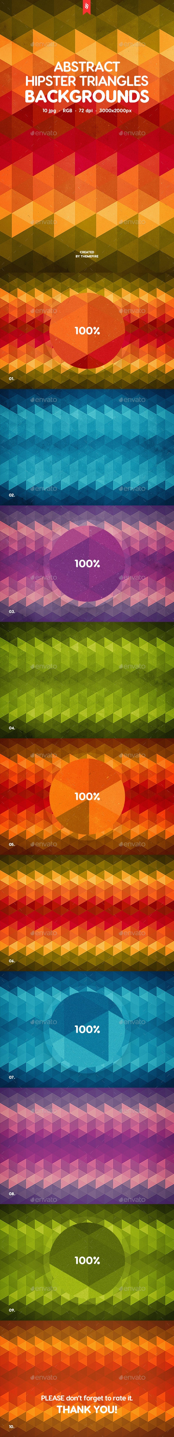 Hipster Triangles Backgrounds - Patterns Backgrounds