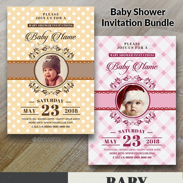 Baby Shower Invitation Bundle