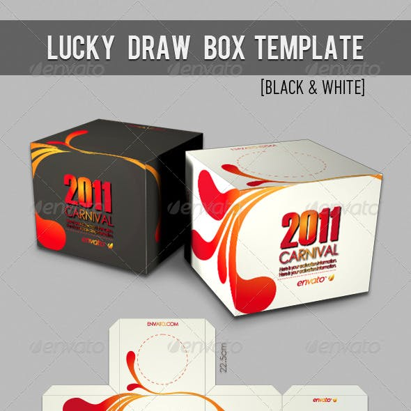 Lucky Draw Box Template