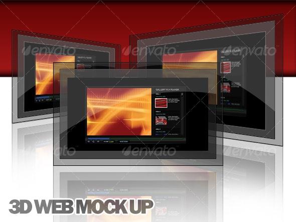 3D Web Display Mock Up - Web Elements
