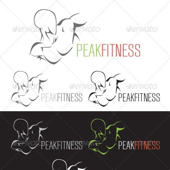 Peak Fitness - Exercise Logo
