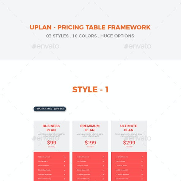 Uplan - A Multipurpose Pricing Tables