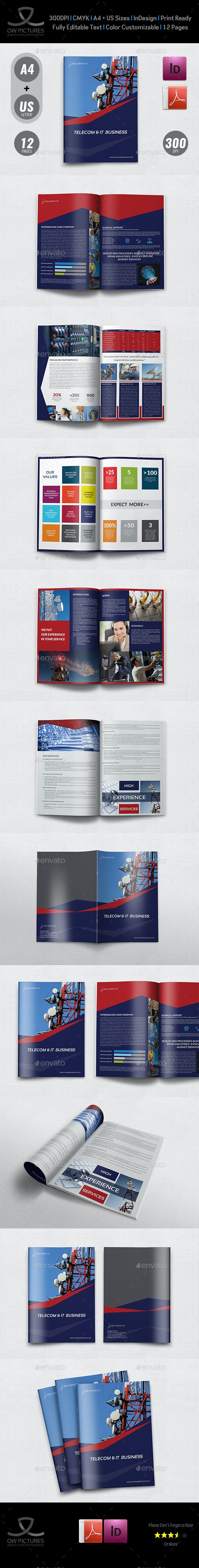 Telecom Services Brochure Template - 12 Pages - Corporate Brochures
