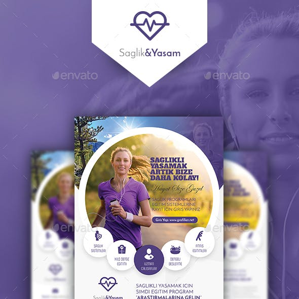 Healthy Life Poster Templates