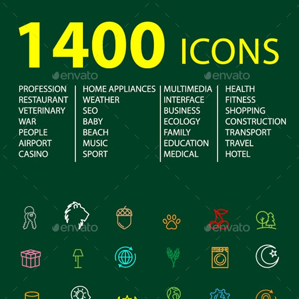 1400 Icons