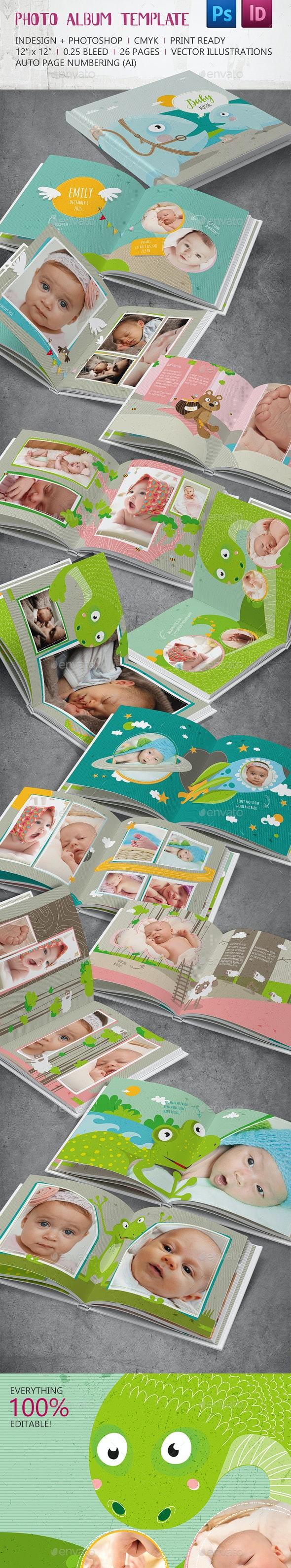 Photo Album Template InD & PSD - Photo Albums Print Templates