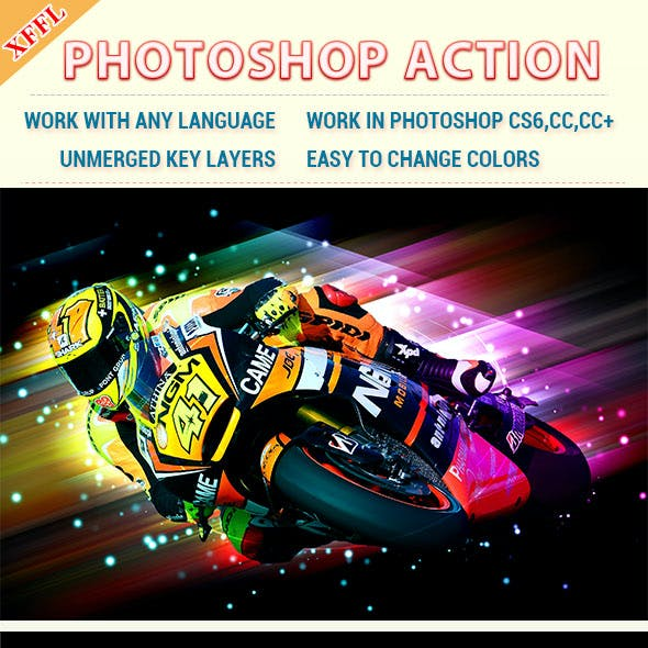 Dazzling Light Effect Photoshop Action