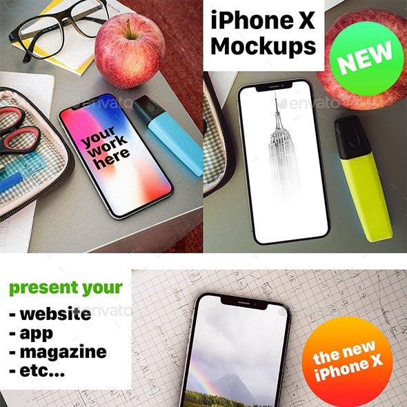 Phone X Desk Mockup