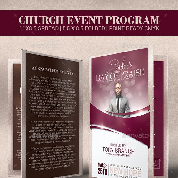Leader's Day of Praise Church Program Template