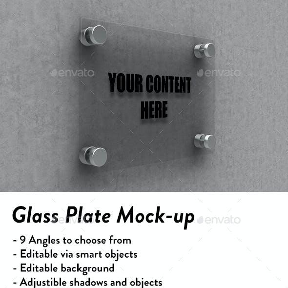 Glass Plate Mockup
