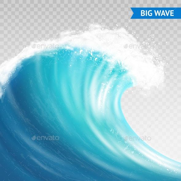 Big Wave On Transparent Background - Nature Conceptual