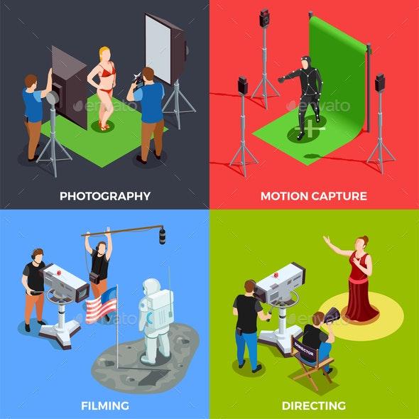 Cinematograph 2x2 Design Concept - Business Conceptual