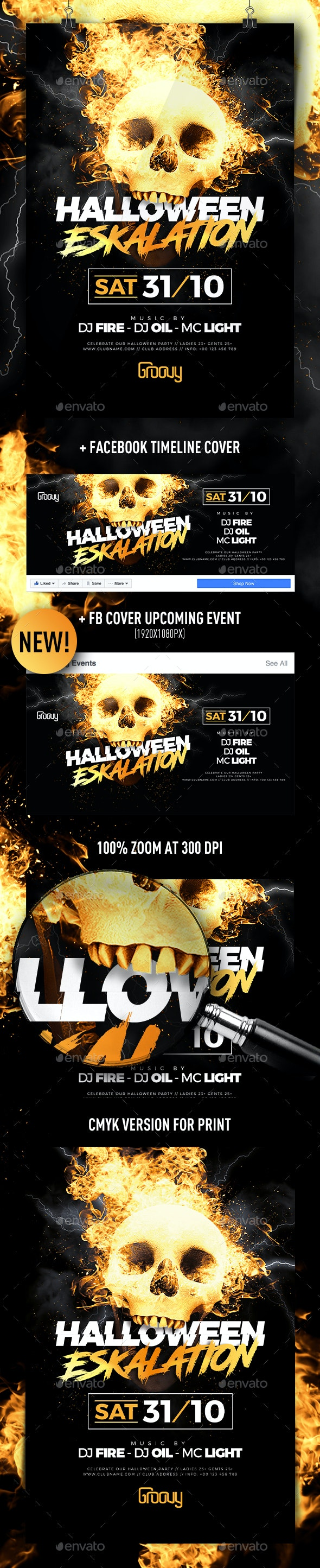 Halloween V3 Flyer - Clubs & Parties Events