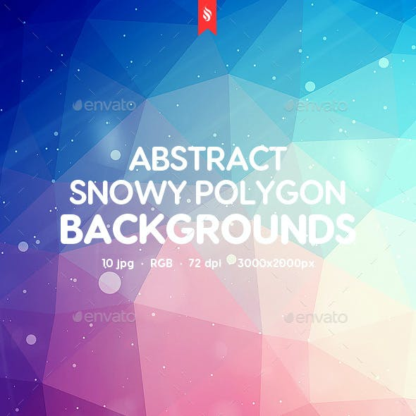 Snowy Polygon Backgrounds