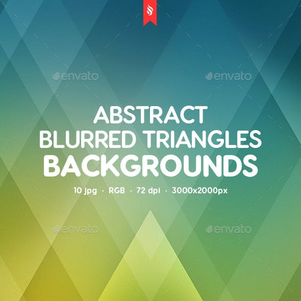 Abstract Blurred Triangles Backgrounds