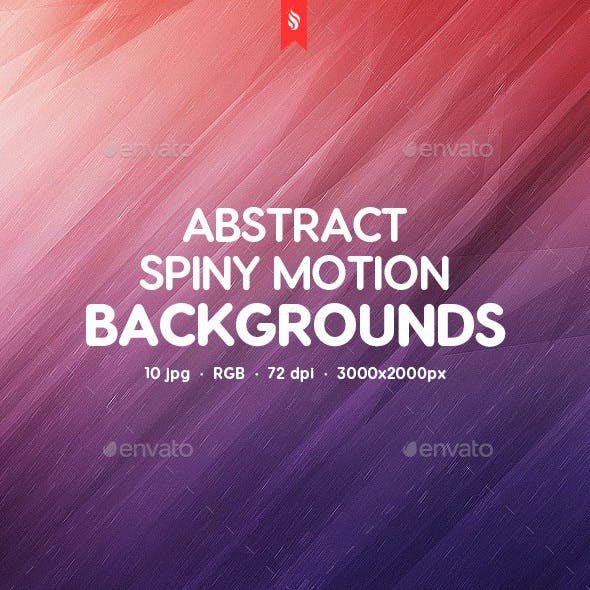 Spiny Motion Background
