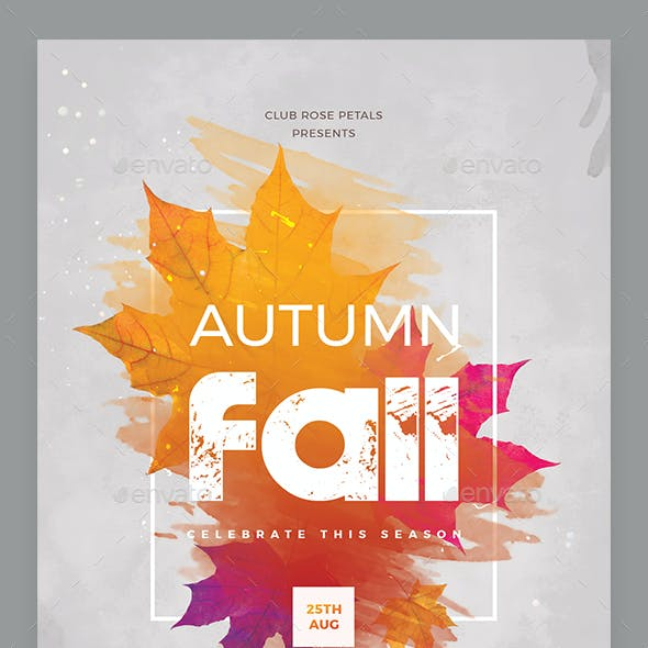 Autumn Festival Celebration Flyer
