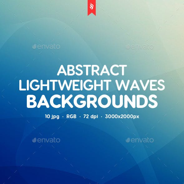 Abstract Lightweight Waves Backgrounds
