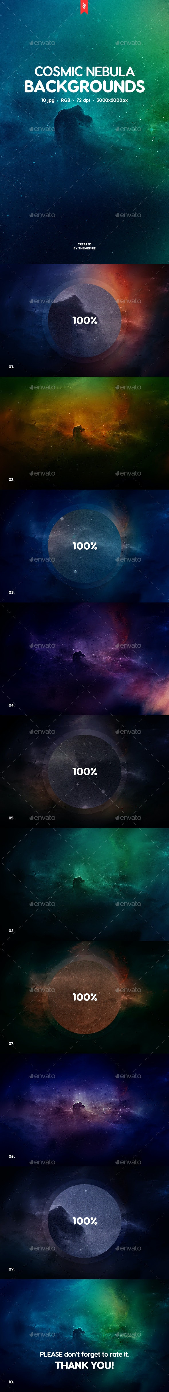 Cosmic Nebula Backgrounds - Abstract Backgrounds
