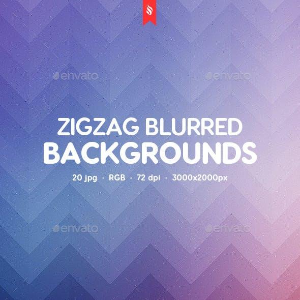 Zigzag Blurred Backgrounds