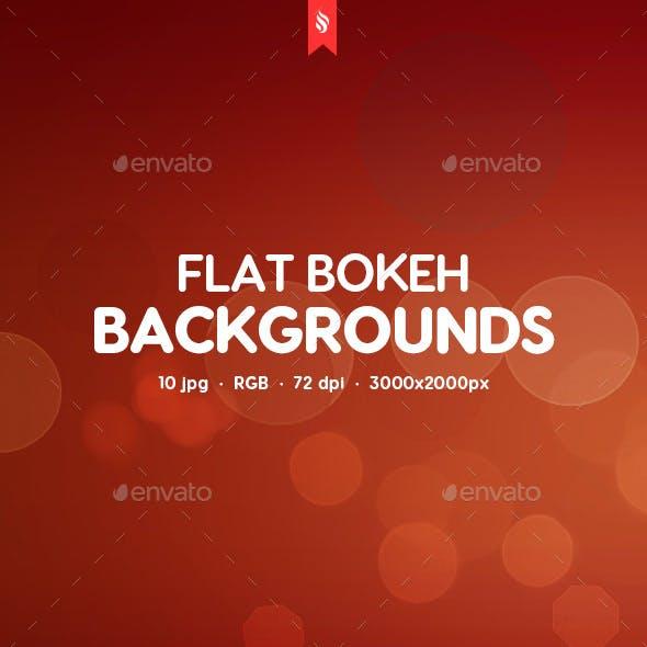 Flat Bokeh Backgrounds