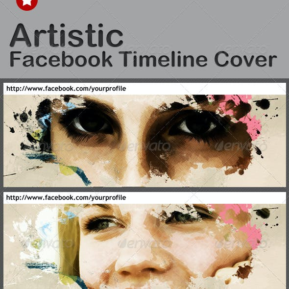 Artistic Facebook Cover Template