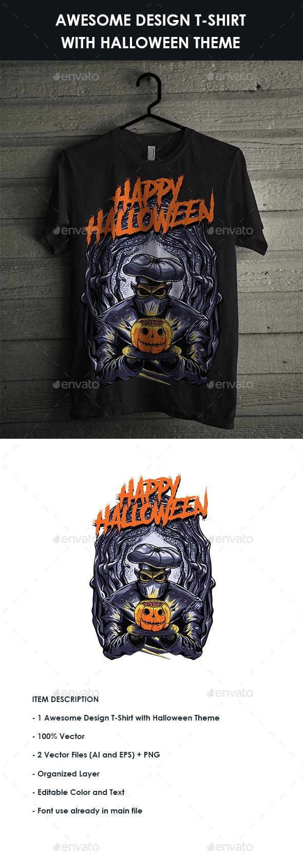 T-Shirt with Halloween Theme