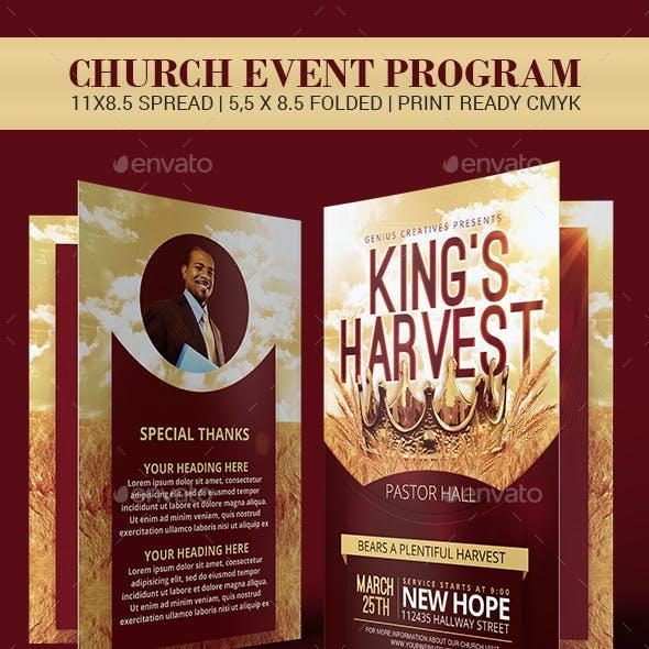 King's Harvest Church Program Template