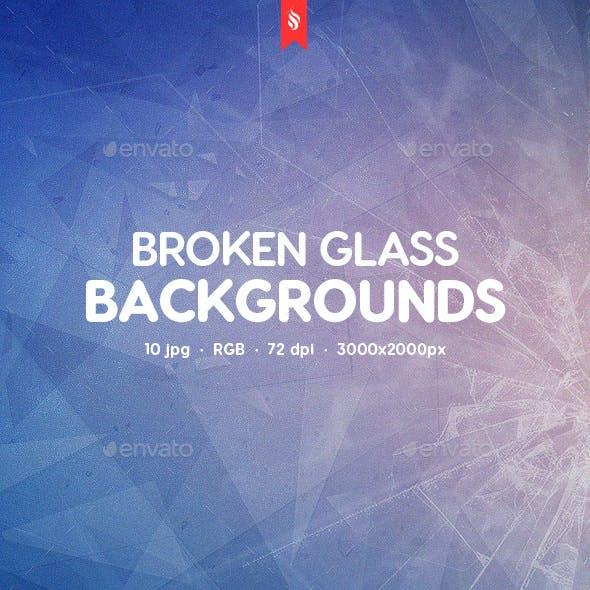 10 Broken Glass Backgrounds