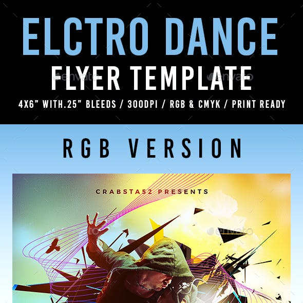 Electro Dance Flyer Template