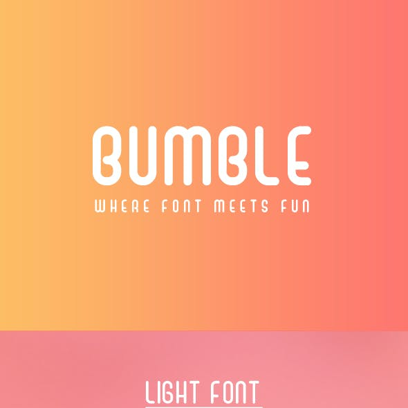 Bumble Playful Sans Serif Font