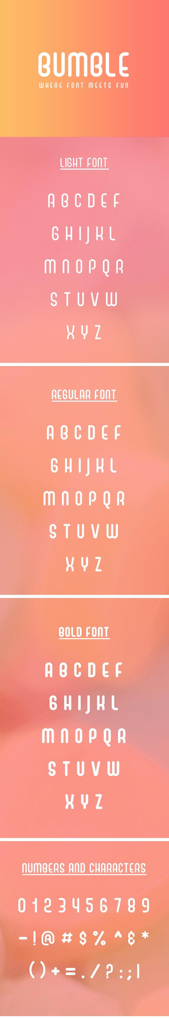 Bumble Playful Sans Serif Font