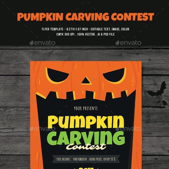 Pumpkin Carving Contest Flyer