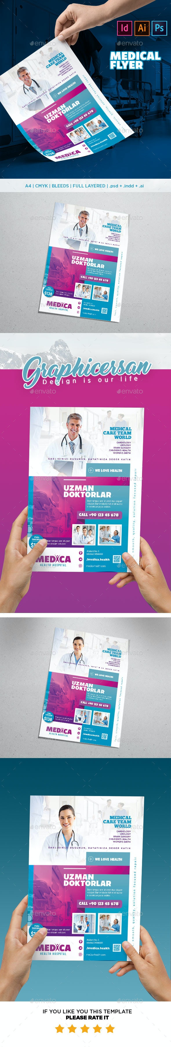 Medical Flyer Template - Flyers Print Templates