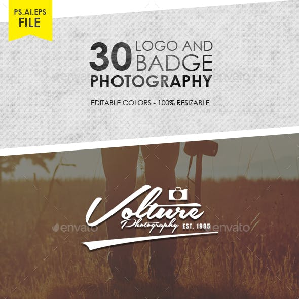 30 Photography Logo & Badge