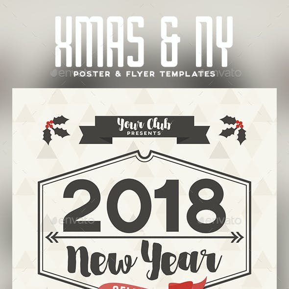 Christmas and New Year Flyer Poster