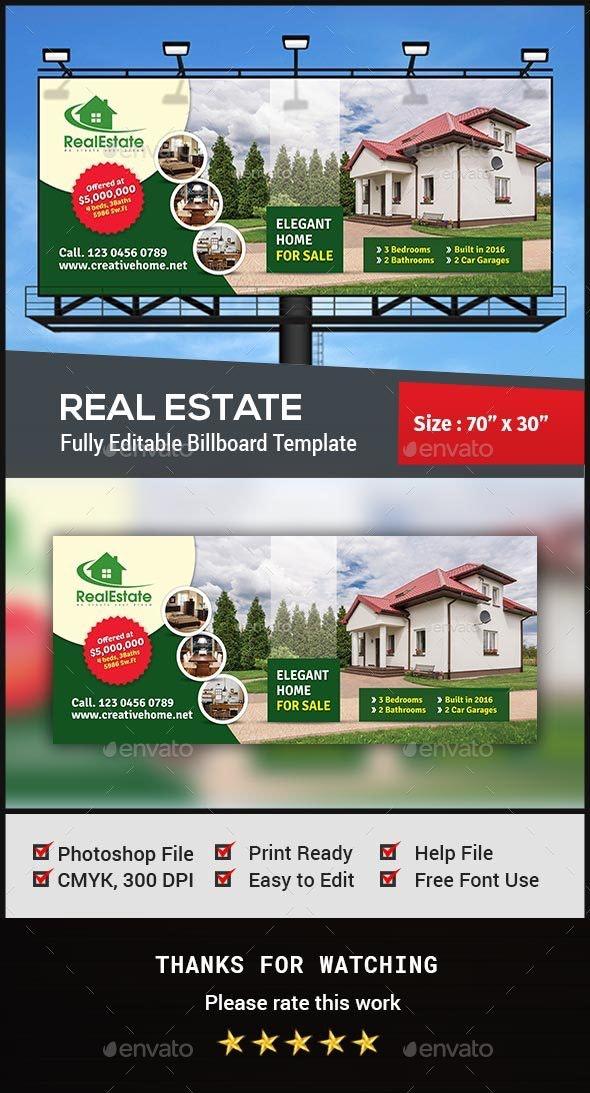 Real Estate Billboard - Signage Print Templates