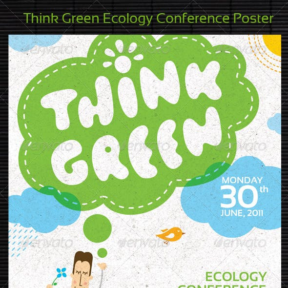Think Green Ecology Conference Poster/Flyer Templa