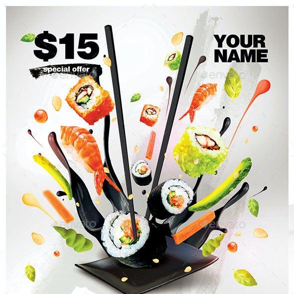 Sushi Time Promotion Flyer