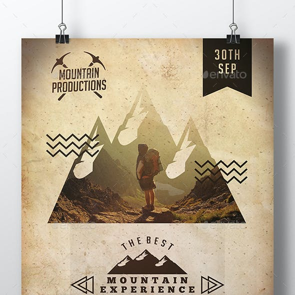 Mountain Experience Flyer Template