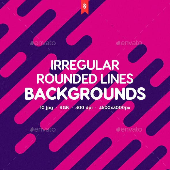 10 Different Abstract Irregular Rounded Lines Backgrounds