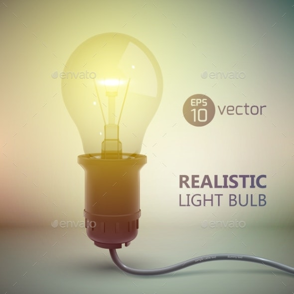 Electric Light Bulb Background - Miscellaneous Vectors