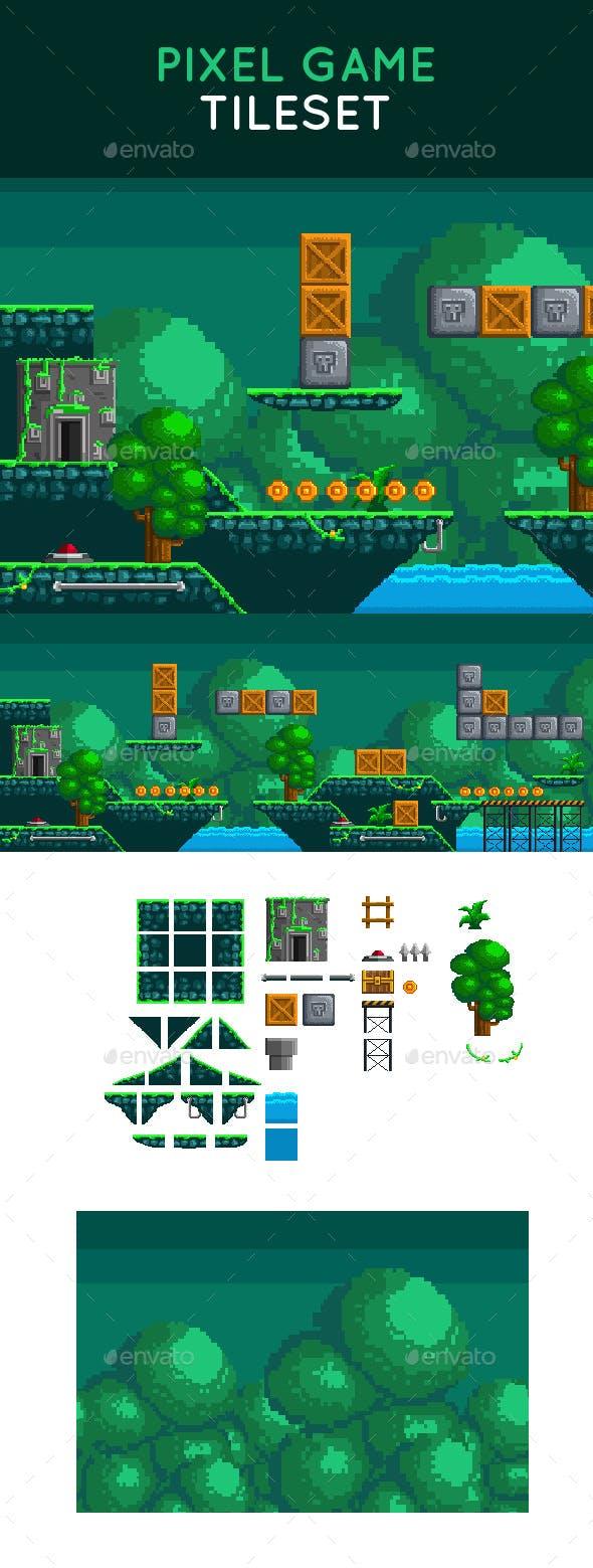 Pixel Game Tileset