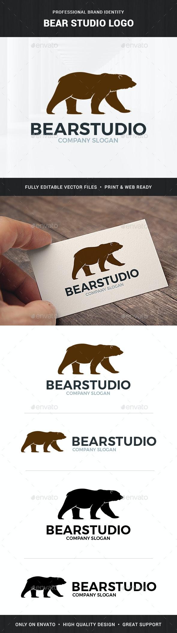 Bear Studio Logo Template - Animals Logo Templates