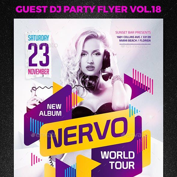 Guest DJ Party Flyer vol.18